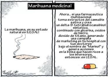 MARIHUANA ILEGAL, FARMACO LEGAL